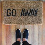 "Doormat that reads ""Go Away"" placeholder"